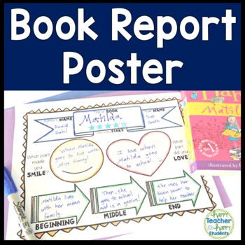 Book Report Poster Template: Works with any Fiction or Non