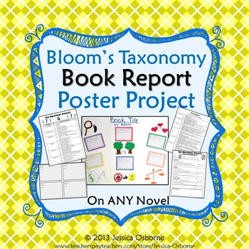 Book Report Project: Bloom's Taxonomy Poster Project