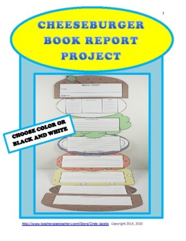 Book Report Project Fiction Book Report Cheeseburger Book Report