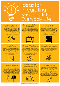 Ideas for Integrating Reading Into Everyday Life Handout