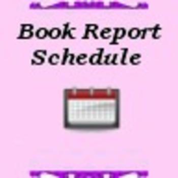 Book Report Schedule