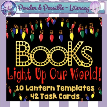 Book Report ~ Task Cards and Lantern Templates