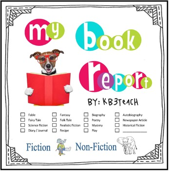 Book Report Template & Graphic Organizers