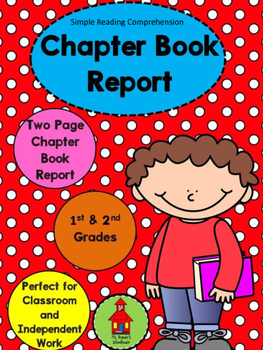 Book Report Template for a Chapter Book