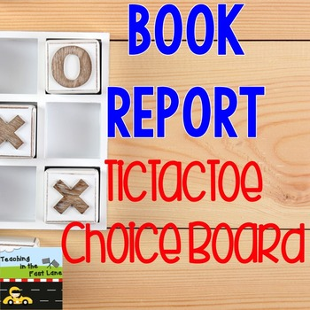 Book Report TicTacToe Choice Board