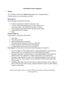 Book Report Website