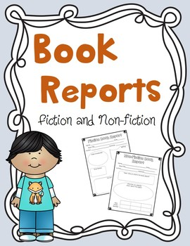 Book Reports {Fiction & Nonfiction}