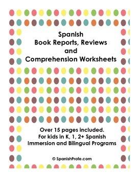 Book Reports in Spanish/Mapas del cuento (Hojas de Compres