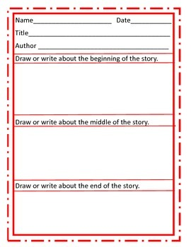 Book Response/Review for Narrative Stories Level 3