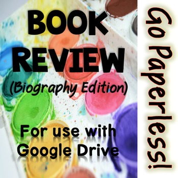 Book Review Activity: Biography edition for Google Drive -