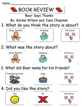 Book Review - Bear Says Thanks