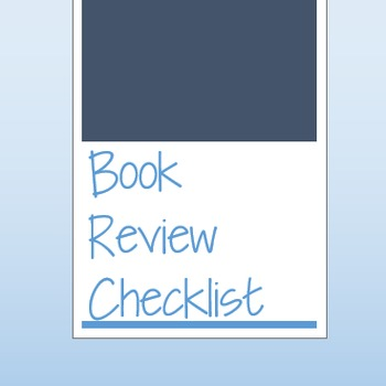 Book Review Checklists