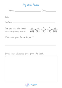 Book Review Handwriting Lines