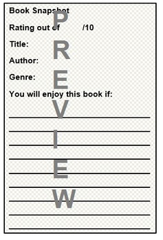Book Review - Quick Peer Book Recommendations Template for