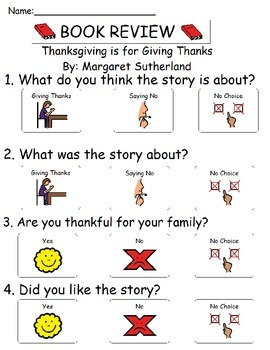 Book Review - Thanksgiving Is For Giving Thanks