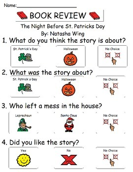Book Review - The Night Before St. Patricks Day