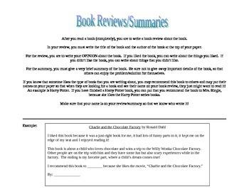 Book Reviews/Summaries Center