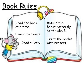Book Rules Sign