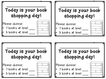 Book Shopping Cards
