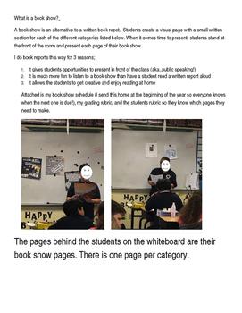 Book Show (alternative book reports)