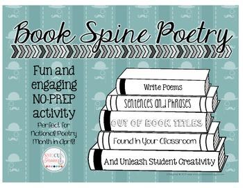 Book Spine Poetry - No-Prep Classroom Activity