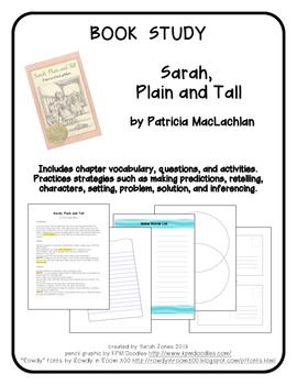 Book Study: Sarah, Plain and Tall by Patricia MacLachlan