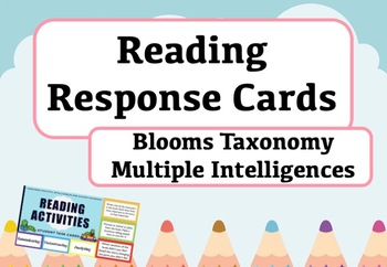 Book Study Task Cards - Multiple Intelligences and Blooms