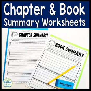 Book Summary AND Chapter Summary Worksheets: Perfect for A