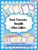 Book Summary Template - Fiction Edition