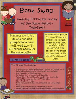 Book Swap: Author Study Guided Reading Unit ELA Common Cor
