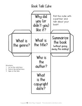 Book Talk Cube FREEBIE
