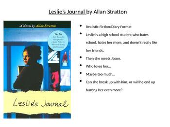 Book Talk on Leslie's Journal