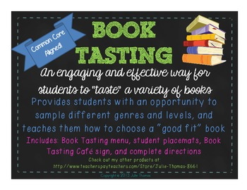 Book Tasting-A Fun & Effective Way for Students to Choose