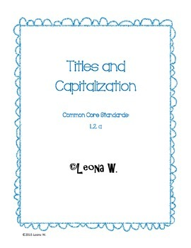 Book Titles and Capitalization