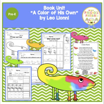 "Book Unit ""A Color of His Own"" by Leo Lionni"