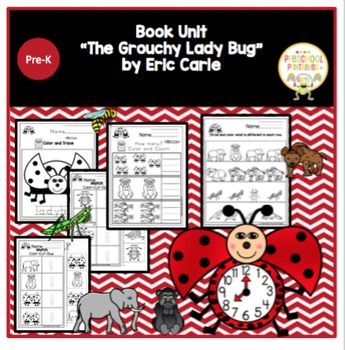 """Book Unit """"The Grouchy Ladybug"""" by Eric Carle"""