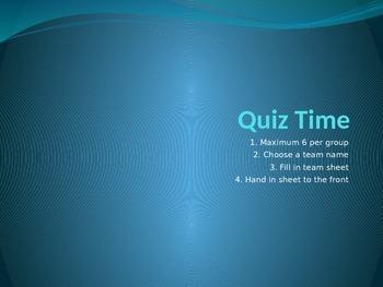 Book Week Quiz + Answers