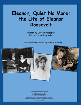 """Book activities for """"Eleanor, Quiet No More: the Life of E"""