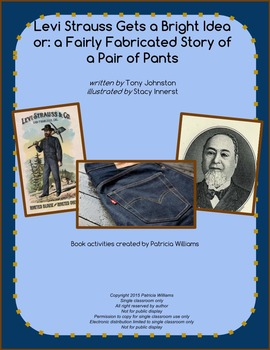 """Book activities for """"Levi Strauss Gets a Bright Idea"""""""