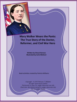 "Book activities for ""Mary Walker Wears the Pants"""