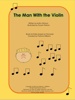"""Book activities for """"The Man with the Violin"""""""