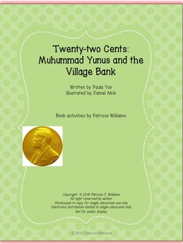 """Book activities for """"Twenty-two Cents: Muhammad Yunus and"""