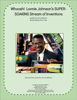 """Book activities for: """"Whoosh! !  Lonnie Johnson's . . . In"""