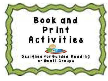 Book and Print Awareness Activities