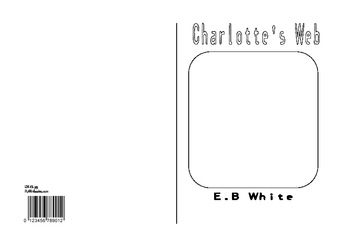 Book cover template for Charlotte's Web