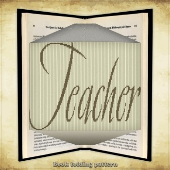 Book folding pattern Teacher for 453 folds