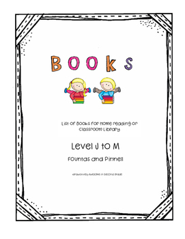 Book list Level J to M