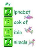 Book or bulletin board: My Bible Animal Alphabet Book