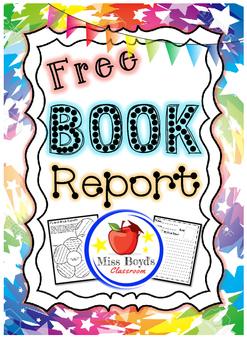 Book report printable free