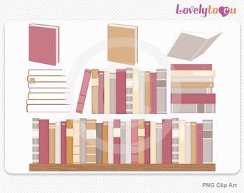Book set clipart, PNG clip art (074)